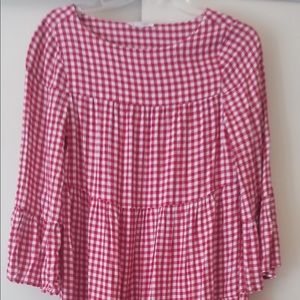 Red Gingham Checkered Dress